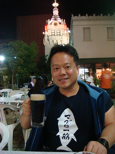Dr. MaCHO Drinking Black Beer