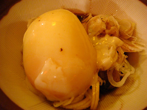 Giblets with Half-Boiled Egg