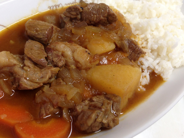 Homemade Low Fat Beef Curry and Rice
