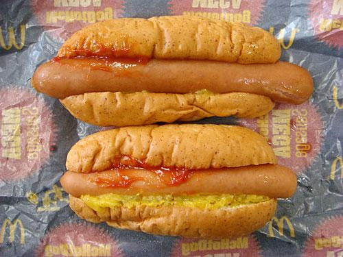 McHotDog Classic and McHoDog MEGA Sausage