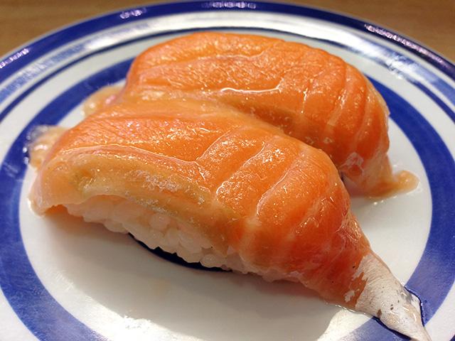 Fatty Salmon Nigiri Sushi