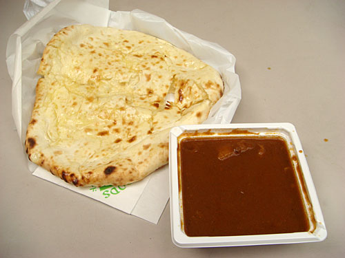 Beef Curry with Cheese Nan
