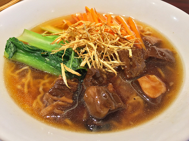 Soup Noodle with Deep-Fried Burdock and Beef