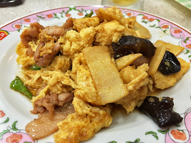 Hard Scrambled Egg and Pork