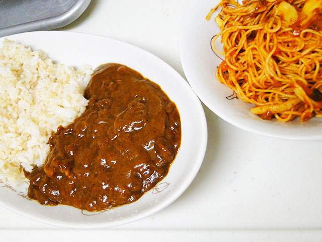 Morning Curry and Pasta