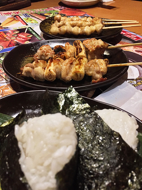 Rice Balls and Yakitori
