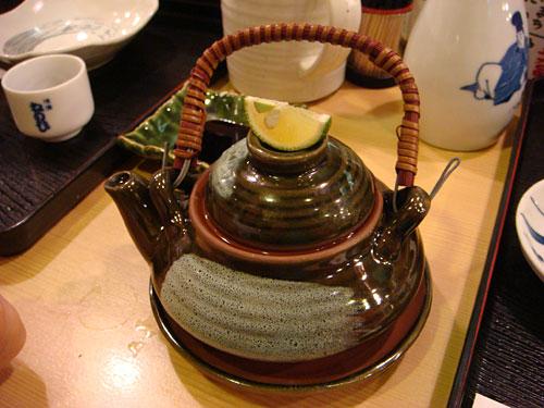 Matsutake Mushroom Soup in Tea Pot