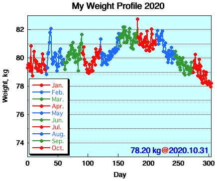 My Weight Profile 2010