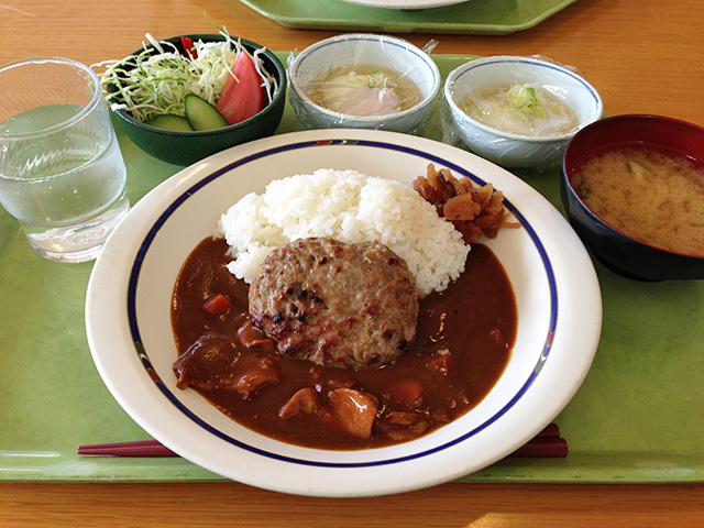Hamburg Steak Curry and Rice with Soft-Boiled Eggs