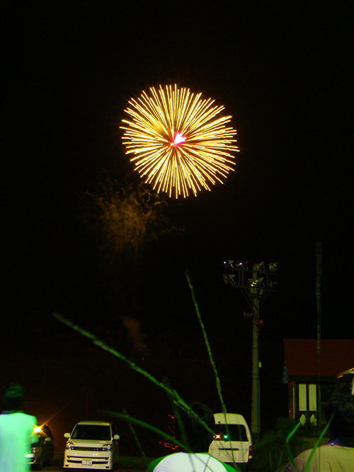 Fireworks at Joetsu Kokusai Ski Resort
