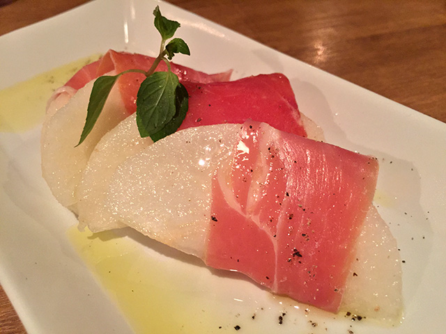 Hosui Pear Wrapped by Raw Ham