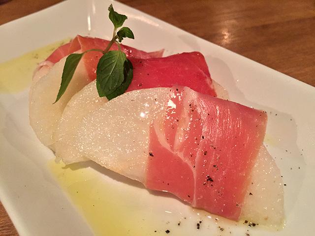 Hosui Pear Wrapped by Raw Ham