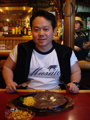 Dr. MaCHO with Texas Steak