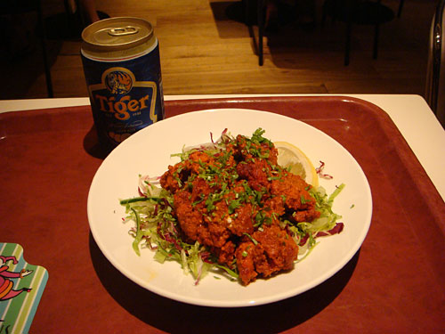 Tandoori Chicken and Tiger Beer