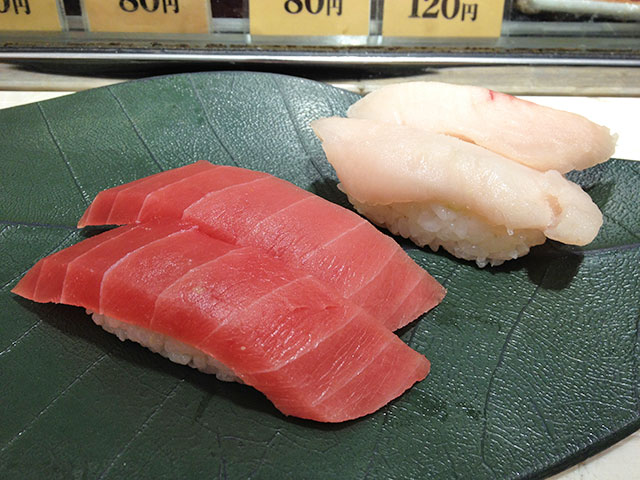 Tuna and Albacore Nigiri Sushi