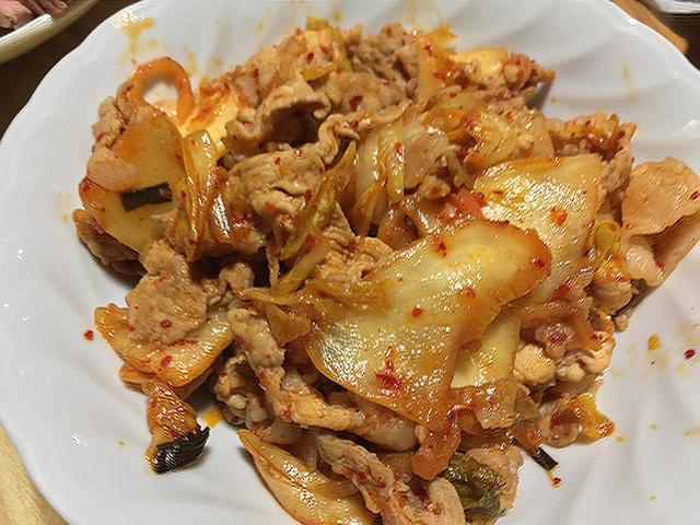 Sauteed Pork and Kimchi
