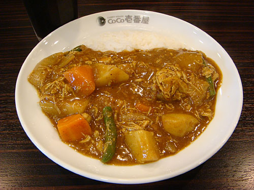 Half Order Pork Curry with Stewed Chicken and Vegetables