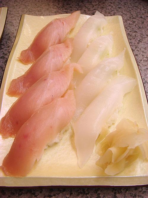 Albacore Tuna and Squid
