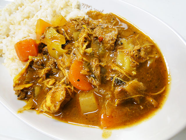 Homemade Chicken and Beef Curry with Sprouted Brown Rice