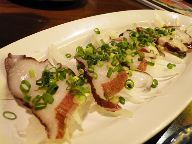 Sliced Octopus with Ponzu Sauce