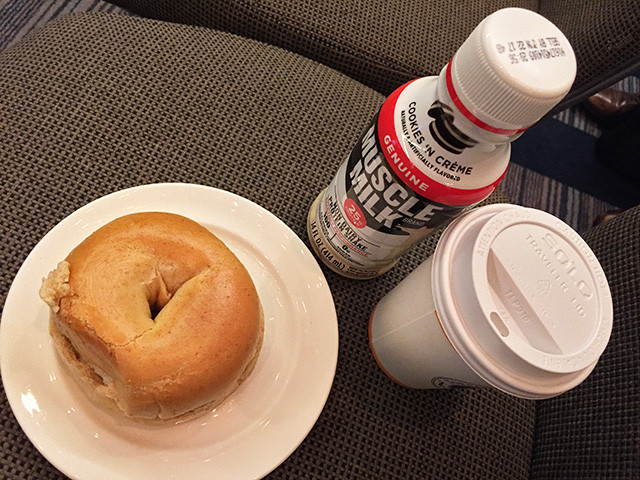 Continental Breakfast with MUSCLE MILK