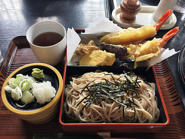 Zaru Soba with Assorted Tempura