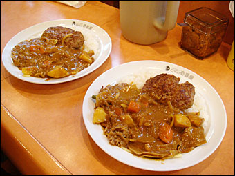 Shabu-Shabu Beef Curry with Hamburger, Vegetables, and Cheese
