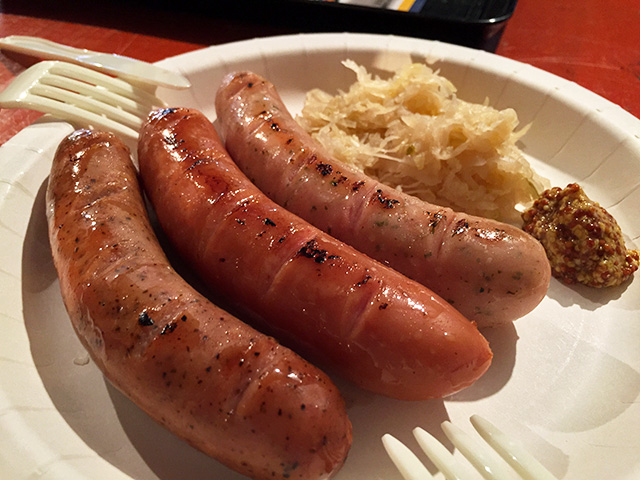 Assorted Sausages with Sauerkraut