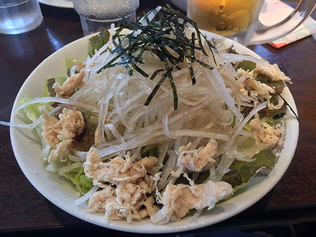 Steamed Chicken and Daikon Radish Salad with Salt-Based Sauce