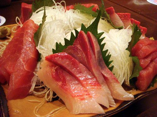 Tuna and Yellow Tail Sashimi