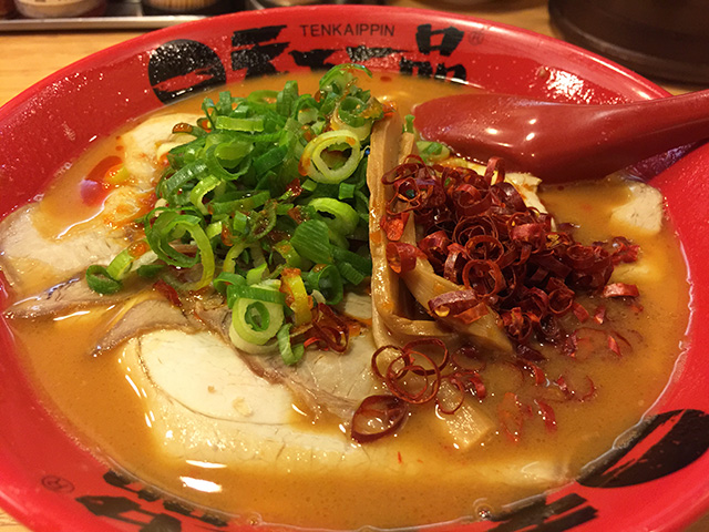 Tenkaippin Ramen Noodles with Hot Pepper