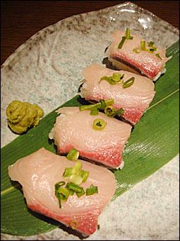 寒鰤のにぎり寿司