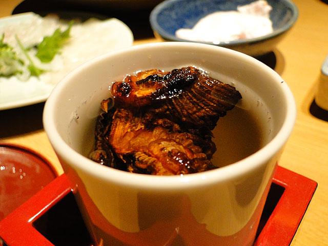 Blowfish Fins in Sake