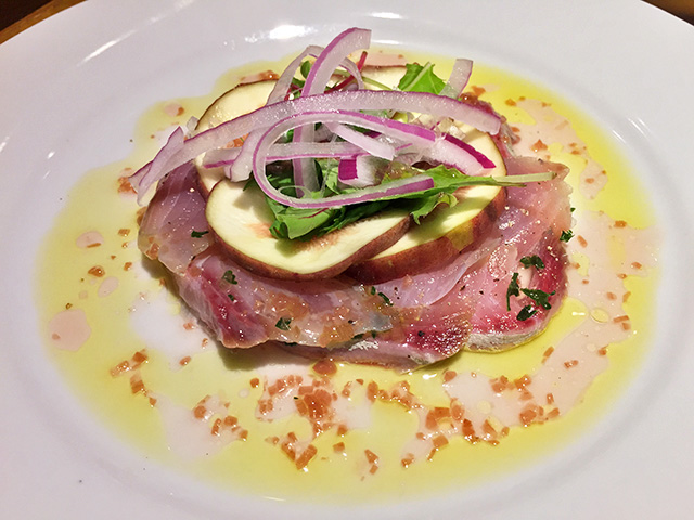 Yellowtail and Fig carpaccio