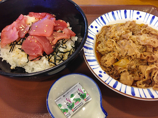 Red Tuna Rice Bowl and Stewed Beef