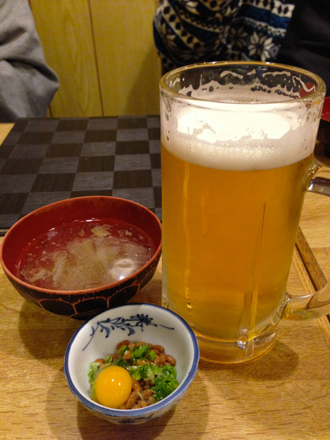 Beer, Natto, and Soup