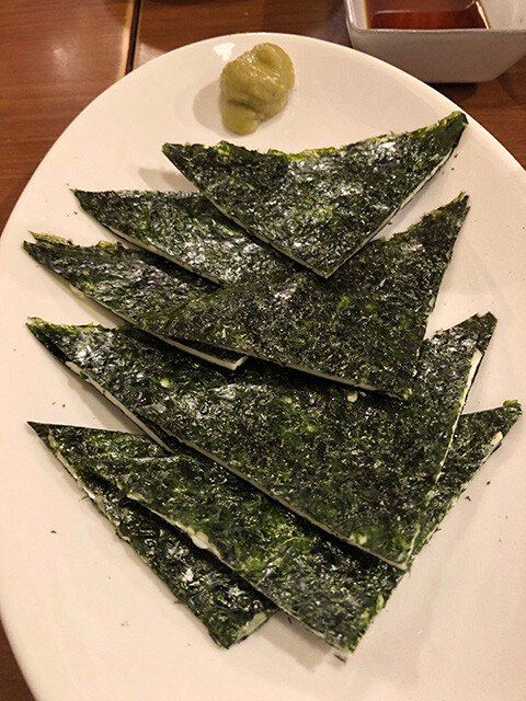 Cheese Sandwich with Seaweed