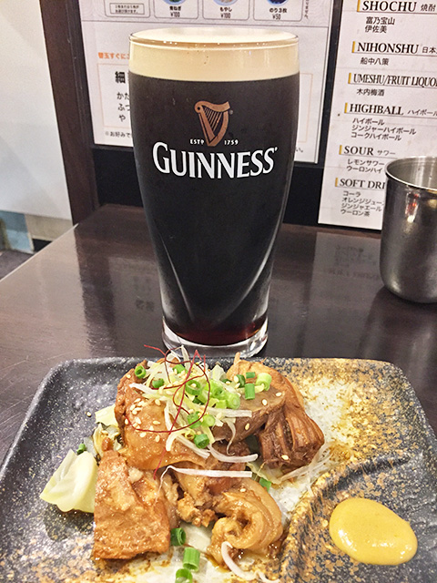 GUINNESS with Braised Pork Belly