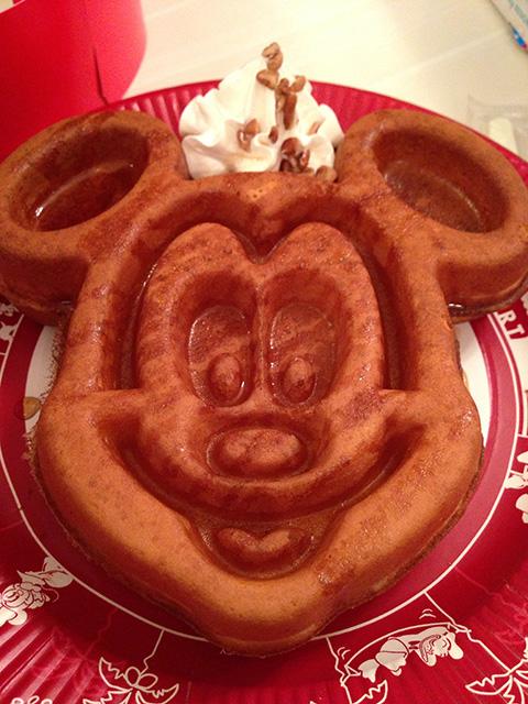 Mickey-Shaped Waffle