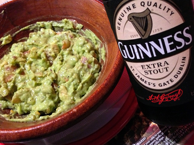 TABLESIDE GUACAMOLE and GUINNESS