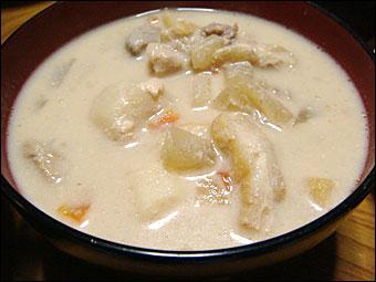 Sake Cake Soup