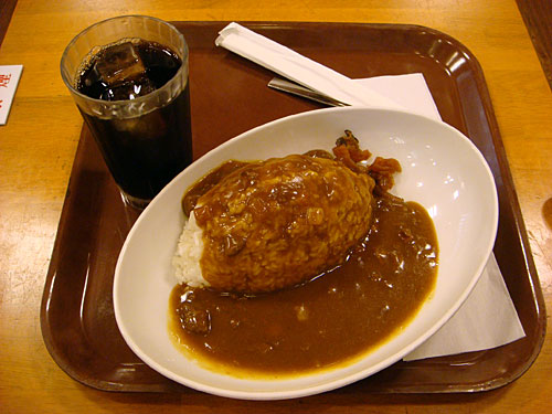 Curry with Iced Coffee