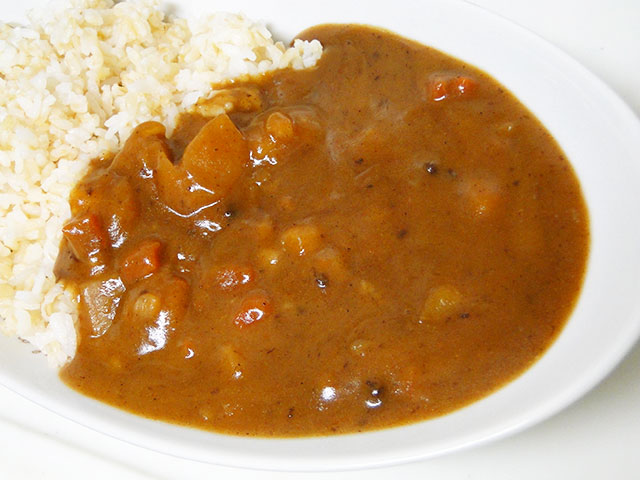 Curry and Sprouted Brown Rice