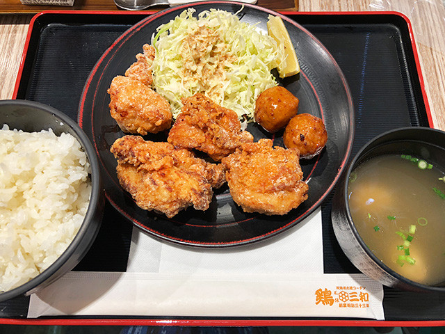 Deep-Fried Chicken Set Meal
