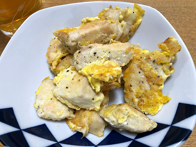Fried Chicken Breast with Egg