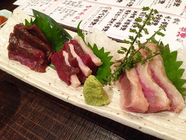 Assorted Horse Meat Sashimi