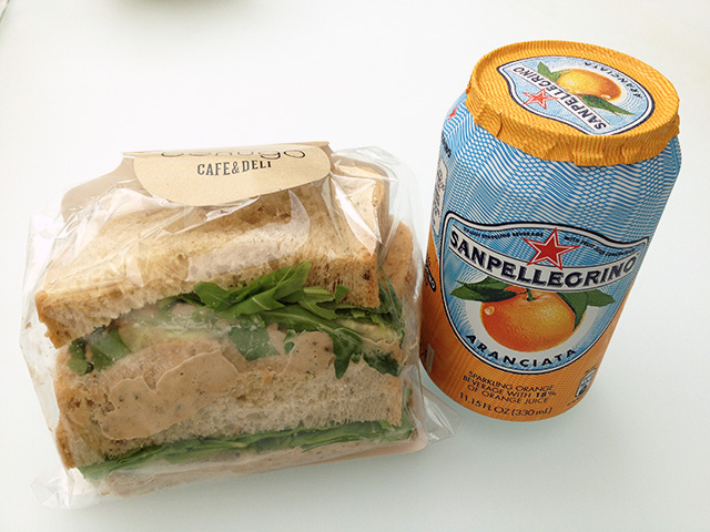 Tuna Sandwich and Orange Juice