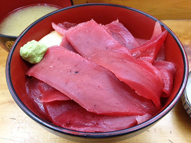 Tuna Rice Bowl with Fish-Bone Miso Soup