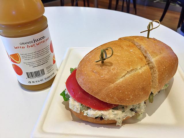 Tuna Sandwich with Orange Juice
