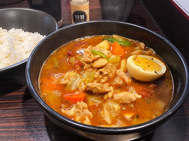 Roast Chicken Soup Curry with Stewed Chicken